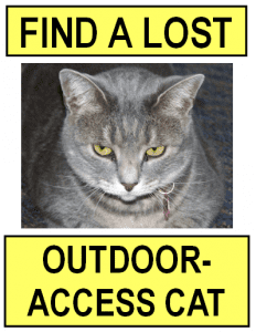 Find a Lost Outdoor Cat button