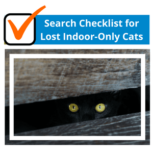 Search Checklist for Lost Indoor-Only Cats